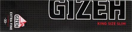 GIZEH BLACK Extra Fine King Size Slim (je 25 Heftchen)
