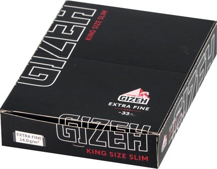 GIZEH BLACK Extra Fine King Size Slim je 25Hf.