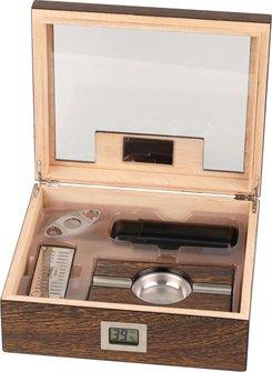 PASSATORE Humidor-Set Ironwood-Design hi-gloss f.ca.50 Cig.