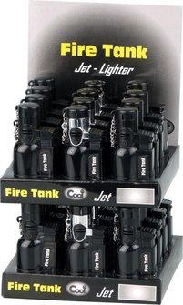 "COOL Mehrwegfeuerzeug ""Fire-Tank"" schwarz/rauchf. Jet"