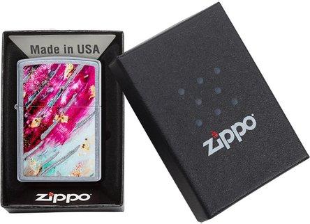"Org.ZIPPO street chrom color ""Mosaik pink"" 60004589"