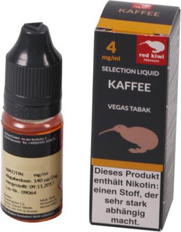 red kiwi Selection Liquid Black Coffee Vegas Low 10ml