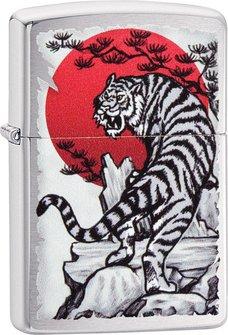 "Org.ZIPPO chrom gebürstet color ""Japan Tiger"" 60004590"