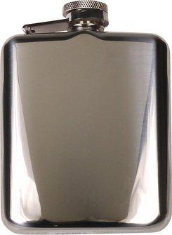 Flachmann Edelstahl chrom poliert 6oz/180ml