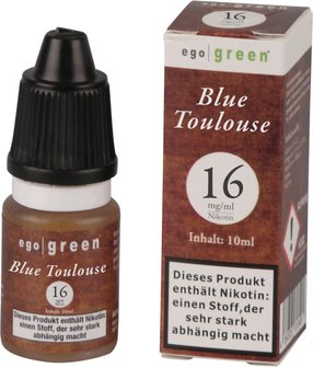 Liquid ego green Blue Toulouse 16mg Nikotin 10ml