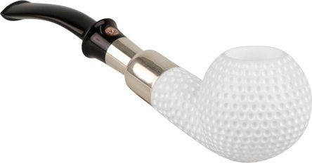 "Altinay Block Meerschaumpfeife ""Golf""/Ring+Stecker in Silber"
