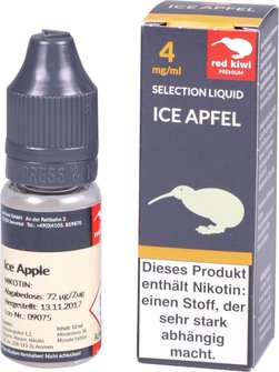 red kiwi Selection Liquid Ice Apfel Low 10ml