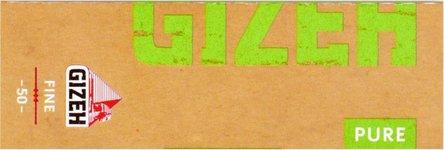 GIZEH PURE Fine 50 Zigtt-Papier (je 25 Heftchen)