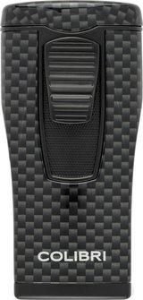 "COLIBRI Cigarrenfeuerzeug ""Monaco II"" Carbondesign schwarz"