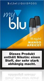 myblu Podpack 1.5ml MangoApricot 18mg/ml Nikotin DE 2er Pack