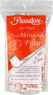 PASSATORE 9mm Aktivkohlefilter Inh. 180 Filter