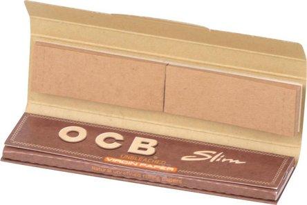 OCB Unbleached EXTRA LONG Slim Zigtt-Papier + Filter je 32Hf