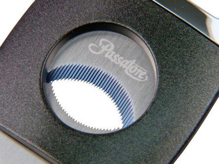 PASSATORE Cigarren-Abschneider grau/chrom gezahn.Klinge 23mm