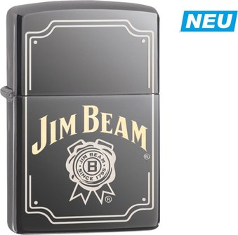 "Org.ZIPPO Black Ice TT ""Jim Beam Logo"" 60004593"