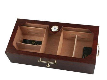 Humidor Kirschholz matt/Acryl für ca. 200 Cigarren