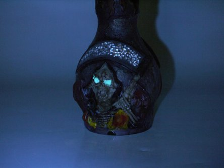 "Modern-Shisha WP ""Skull"" nachtleuchtend braun/rot 2er/48cm"