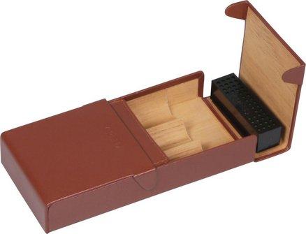 CREDO Cigarren-Etui Kalbsleder braun 3er