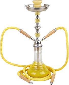 """Modern-Shisha Wasserpfeife """"Schenut"""" gelb 2er/45cm"""