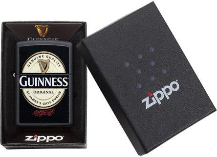 "Org.ZIPPO schwarz color ""Guinnes Logo"" 60004595"