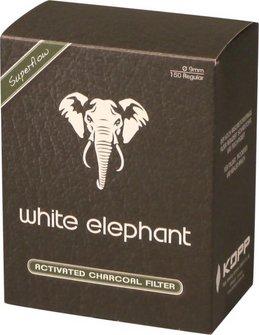 White Elephant Aktivkohlefilter 9mm Vorratsdose Inhalt 150 F