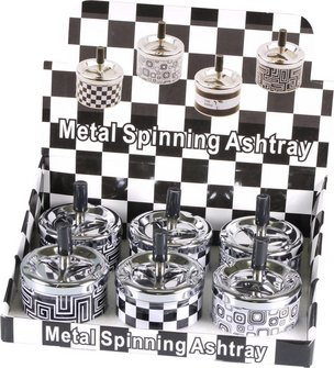 Drehascher Metall schwarz/weiß sortiert  ca.9cm