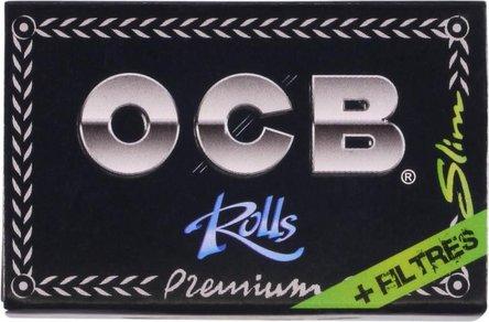 OCB PREMIUM Rolls Slim schwarz 4m mit Tips  (je 24 Rollen)