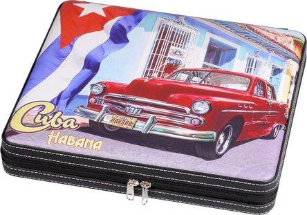 "Cigarren Reisehumidor ""Cuba"" mit Reißverschluss f ca.10 Cig"