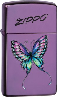 "Org.ZIPPO ""Slim"" Abyss color ""Colorful Butterfly"" 60003325"