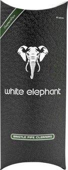 White Elephant Pfeifenreiniger Bürste grau/weiß konisch