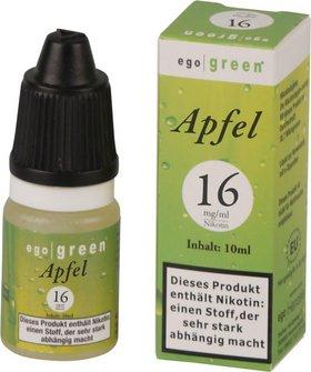 Liquid ego green Apfel 16mg Nikotin 10ml