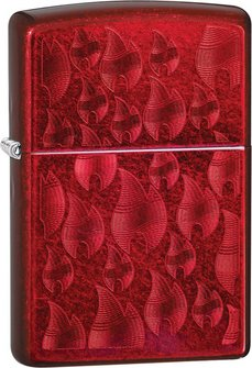 "Org.ZIPPO Candy Apple Red Iced ""Flames"" 60004598"