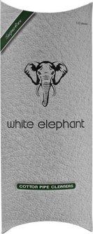 White Elephant Pfeifenreiniger weiß konisch 17.5cm, 100St.