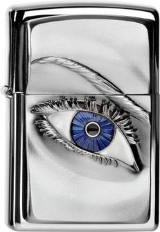 """Org.ZIPPO chr.pol.Plakette """"Woman Eye colored"""" 2004303"""