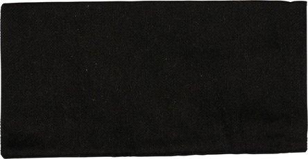 Stoffbeutel neutral schwarz 19x10cm ohne Schnur