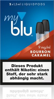 myblu Podpack 1.5ml BourbonCaramel 9mg/ml Nikotin DE 2er Pac