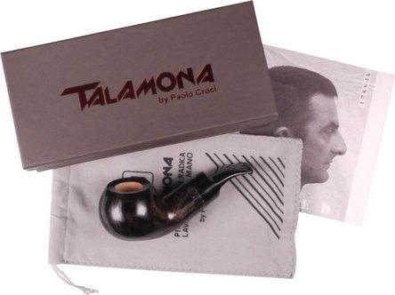 "TALAMONA Pfeife ""Reverse Calabash"" Filter grau Mod.# 2 Acryl"