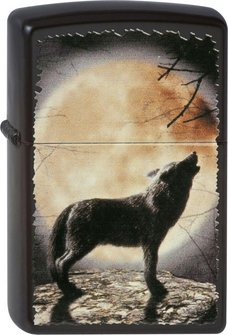 "Org.ZIPPO "" Wolf howling..."" 60001355"