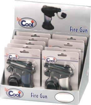 """COOL Jet-Burner """"Fire Gun""""  chrom, mit Fuß"""