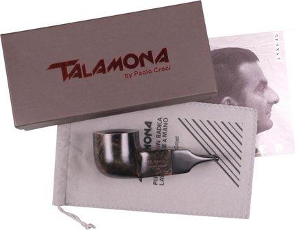"TALAMONA Pfeife ""Reverse Calabash"" Filter grau Mod.# 3 Acryl"