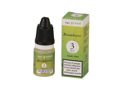 Liquid ego green Brombeere 3mg Nikotin 10ml