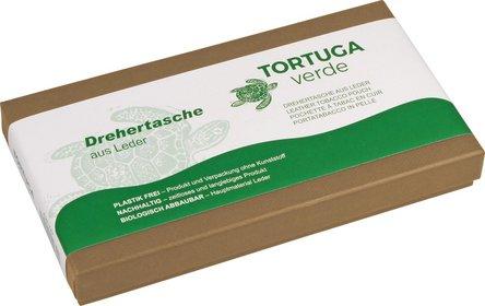 """Drehertasche """"Tortuga verde"""" Leder dunkelbraun 15.5cm"""
