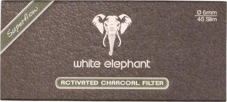 White Elephant Aktivkohlefilter 6mm Box Inhalt 45 Filter