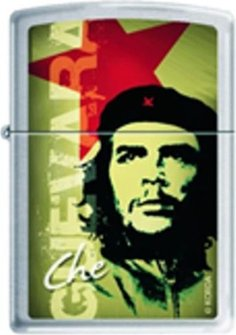 "Org.ZIPPO cr. gebürstet  color ""Che Guevara"" 60001432"