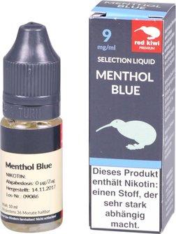 red kiwi Selection Liquid Menthol Blue Medium 10ml