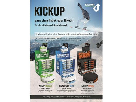 "Produktblatt ""Kickup"" A4"
