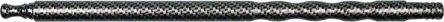 Aluminiummundstück  carbonfinish Länge 30cm