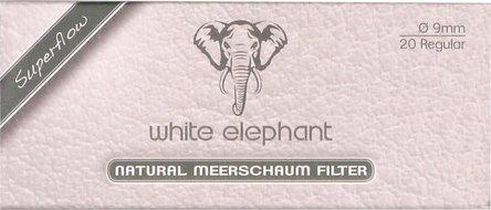 White Elephant Natur-Meerschaumfilter 9mm Box Inhalt 20 Filt