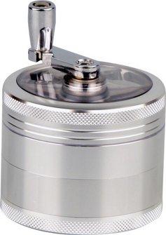 Grinder Metall mit Kurbel 4tlg, Durchm. 62mm, Höhe 76mm