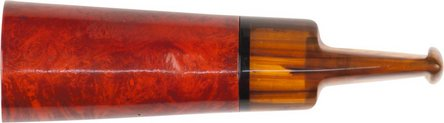 Cigarrenspitze Bruyère orange/black Acrylmundstück marm.18mm