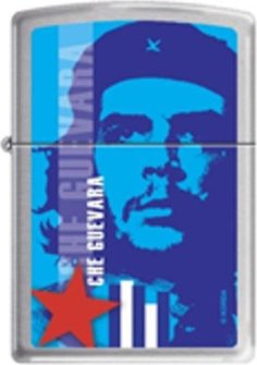 "Org.ZIPPO cr. gebürstet  color ""Che Guevara blau"" 60001458"